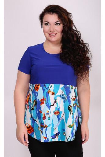 Блузка Анталия (синий)