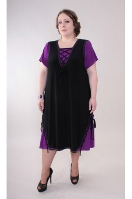 Платье Агния (фиолет)