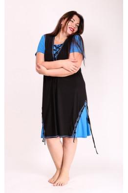 Платье Агния (голубой)