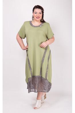 Платье Евдокия (зеленый)