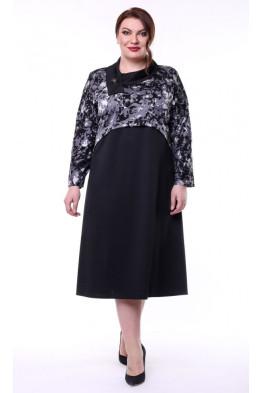 Платье Иветта (черный/серый)