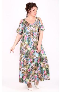 Платье Лилия (павлин)