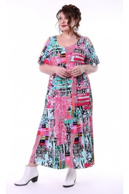 Платье Лилия (розовый)
