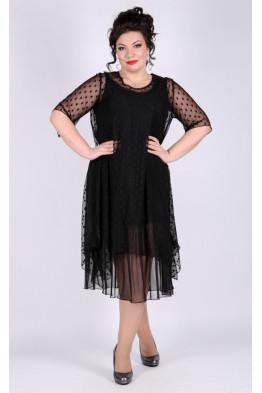 Платье Олимпия (горох черный)
