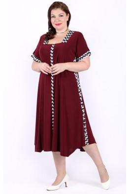 Платье Верена (бордо)