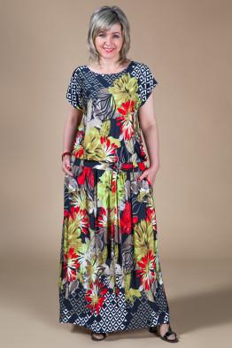 Платье Дженни (астры красные)
