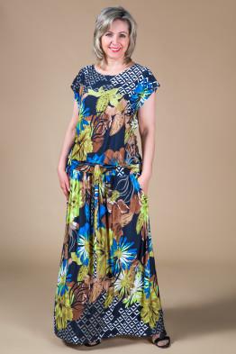 Платье Дженни (астры синий)