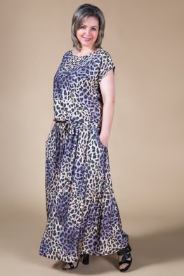Платье Дженни (леопард-зеленый)