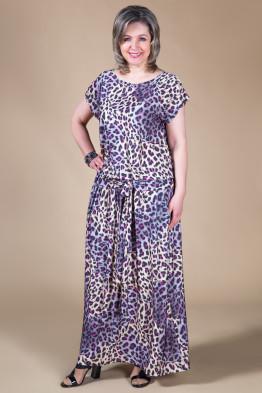 Платье Дженни (леопард-розовый)