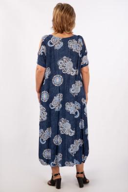 Платье Алиса (кружево/джинс)