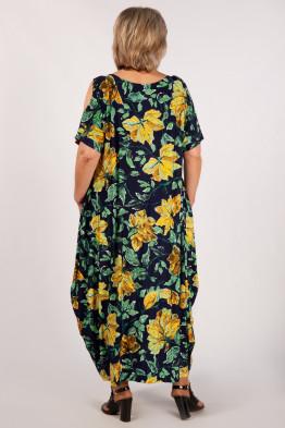 Платье Алиса (листья желтые)