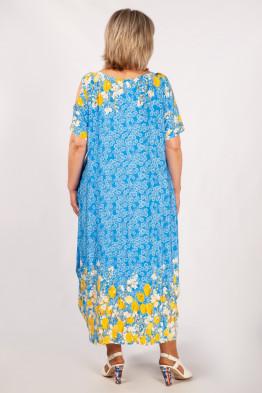 Платье Алиса (голубой/тюльпаны)