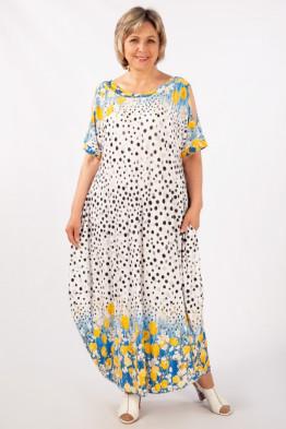 Платье Алиса (тюльпаны на голубом)