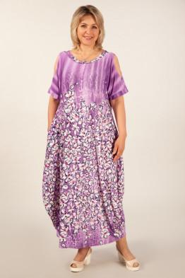 Платье Алиса (цветы на сиреневом)