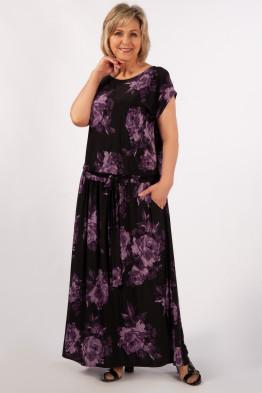 Платье Анджелина-2 (цветы сиреневые)