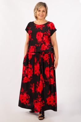 Платье Анджелина (цветы красные)