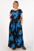 Платье Анджелина (цветы синие)