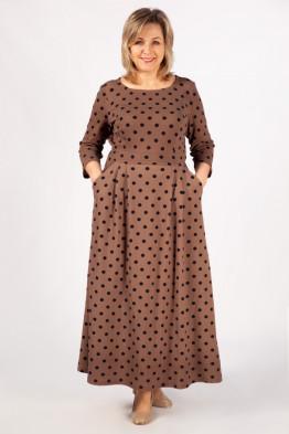 Платье Дарина (бежевый/синий)