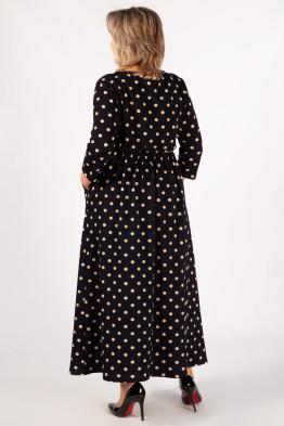 Платье Дарина (темно-синий молочный)