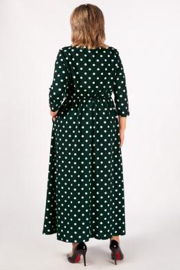 Платье Дарина (темно-зеленый белый)