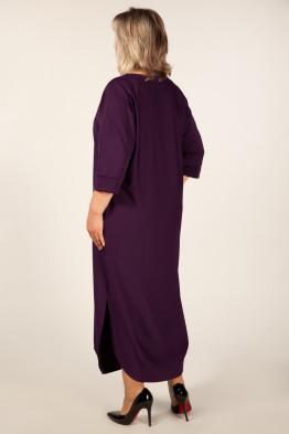 Платье Мона (баклажан)