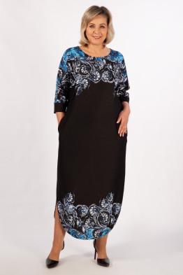 Платье Моника (синий/черный)