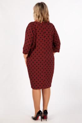 Платье Наоми (бордовый/синий)