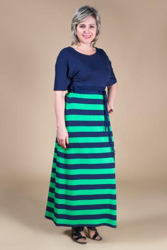 Платье София (сине-зеленый)