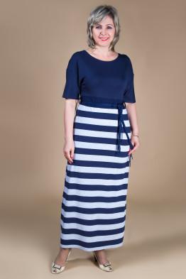 Платье София (сине-серый)