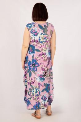 Платье Стефани (сиреневый цветы)