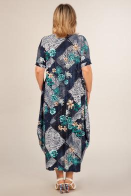 Платье Вероника (джинс/бирюза)