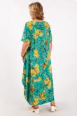 Платье Вероника (листья/желтый)