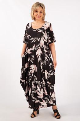 Платье Вероника (розовый/черный)