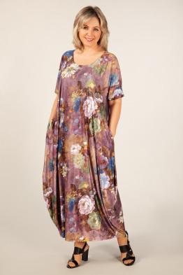 Платье Вероника (цветы на сиреневом)