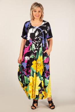 Платье Вероника (цветы желтые)