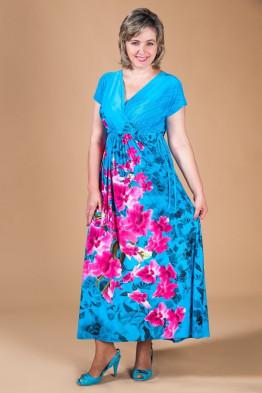 Сарафан Афина О (голубой)