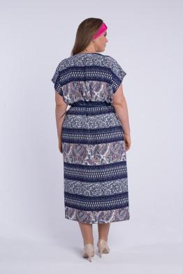 Платье Индия 1737 (синий 057)