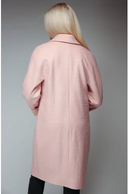 Пальто полушерстяное (пудра)